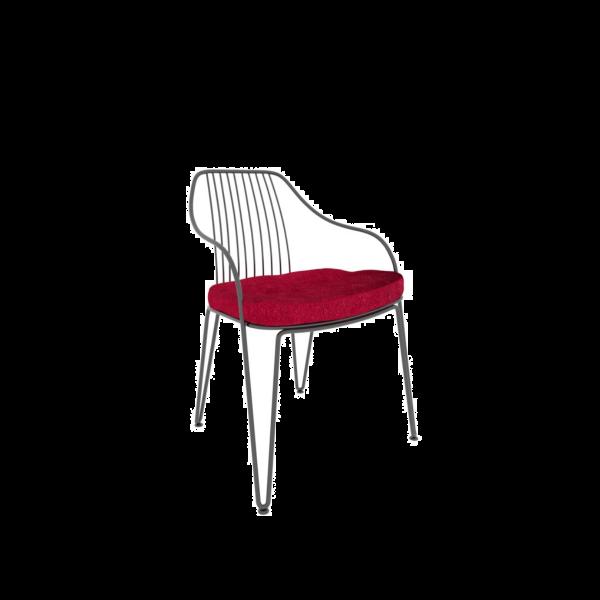 Ozzio sedia Lira, struttura nero perla; cuscino blunotte in velluto